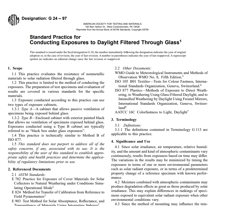 Astm G 24 – 97 pdf free download - All civil engineers standard PDF