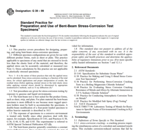 Astm G 39 – 99 pdf free download