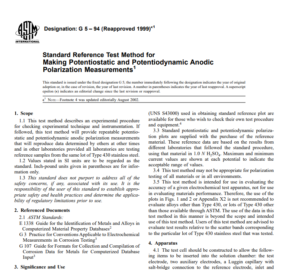 Astm G 5 – 94 (Reapproved 1999) pdf free download