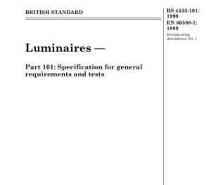 BS 4533-101: 1990 EN 60598-1: 1989 pdf free download